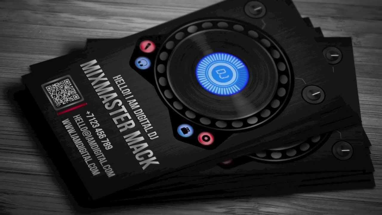 Dj Business Card Template Digital Dj Business Card Template