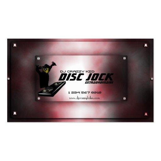Dj Business Card Template Disc Jock Dj Business Card Template
