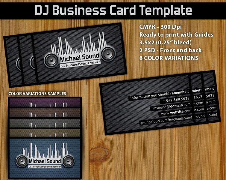 Dj Business Card Template Dj Business Card Template ‹ Psdbucket