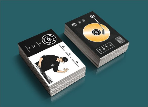 Dj Business Card Template Dj Business Cards
