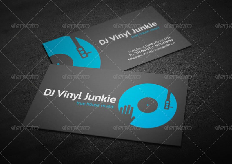 Dj Business Card Template Dj Logo Template Psd