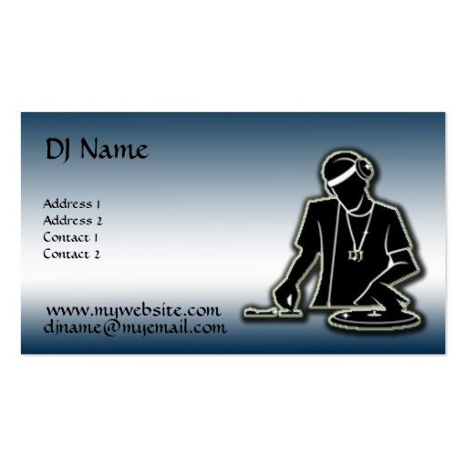 Dj Business Card Template the Dj Improved Double Sided Standard Business Cards