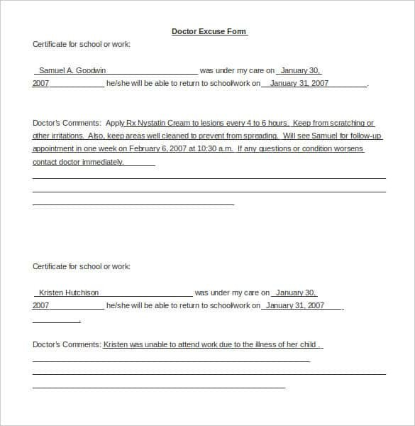 Doctors Note for School Template 35 Doctors Note Templates Word Pdf Apple Pages