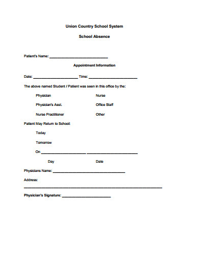 Doctors Note for School Template Doctors Note for School Template Create Edit Fill and
