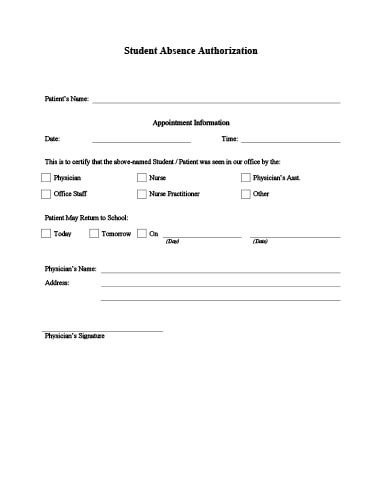 Doctors Note for School Template Doctor's Note Templates • Hloom
