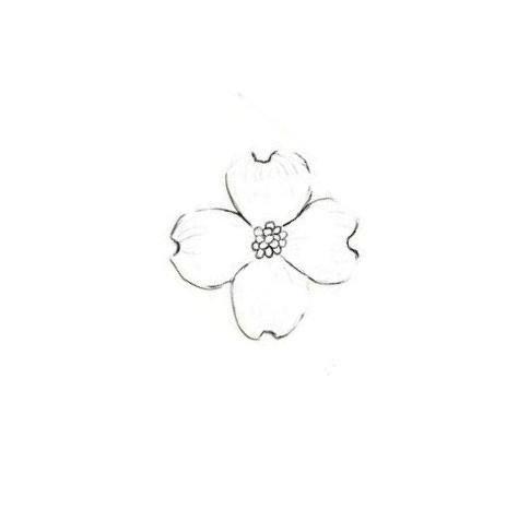 Dogwood Flower Outline 25 Best Ideas About Dogwood Flower Tattoos On Pinterest