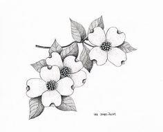 Dogwood Flower Outline Future Tattoo Flowering Dogwood Cornus Florida