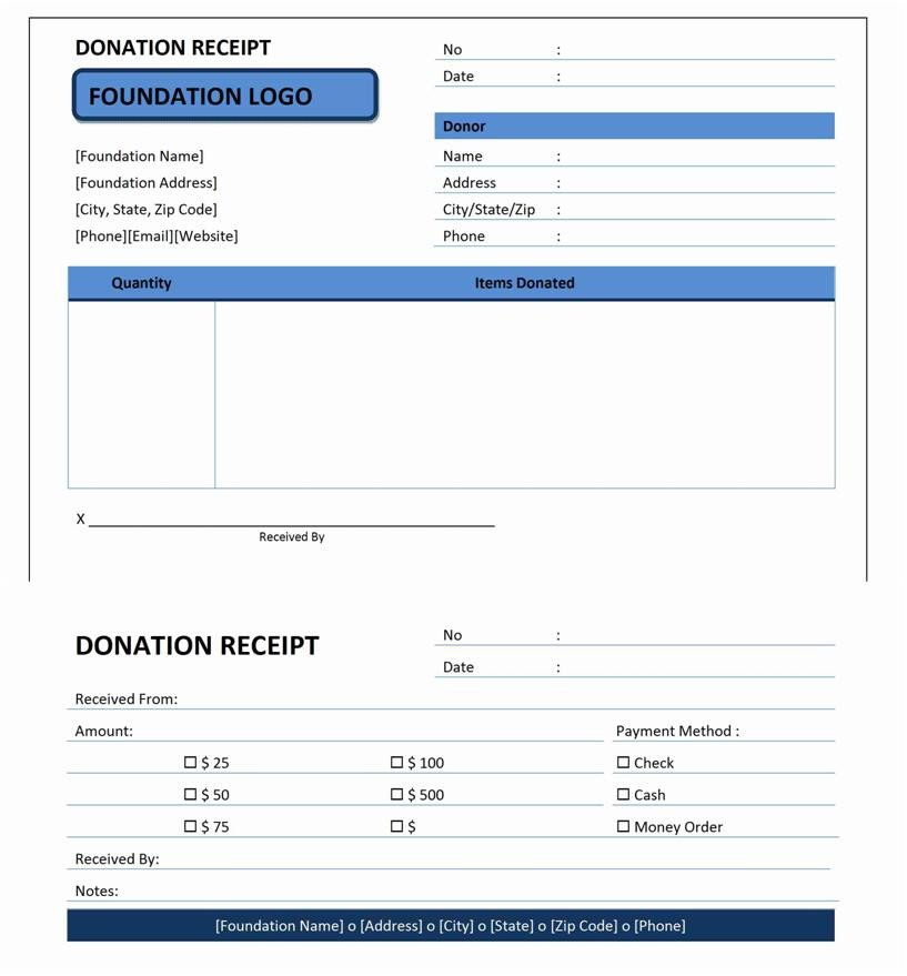 Donation form Template Word Donation Receipt