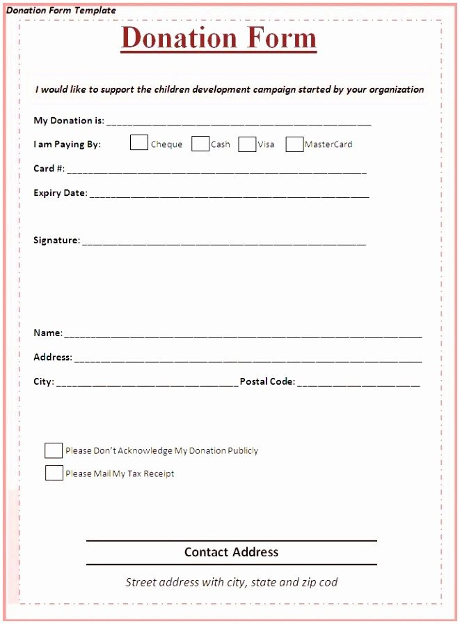 Donation Pledge Card Template 9 Charity Pledge form Template Dtauw