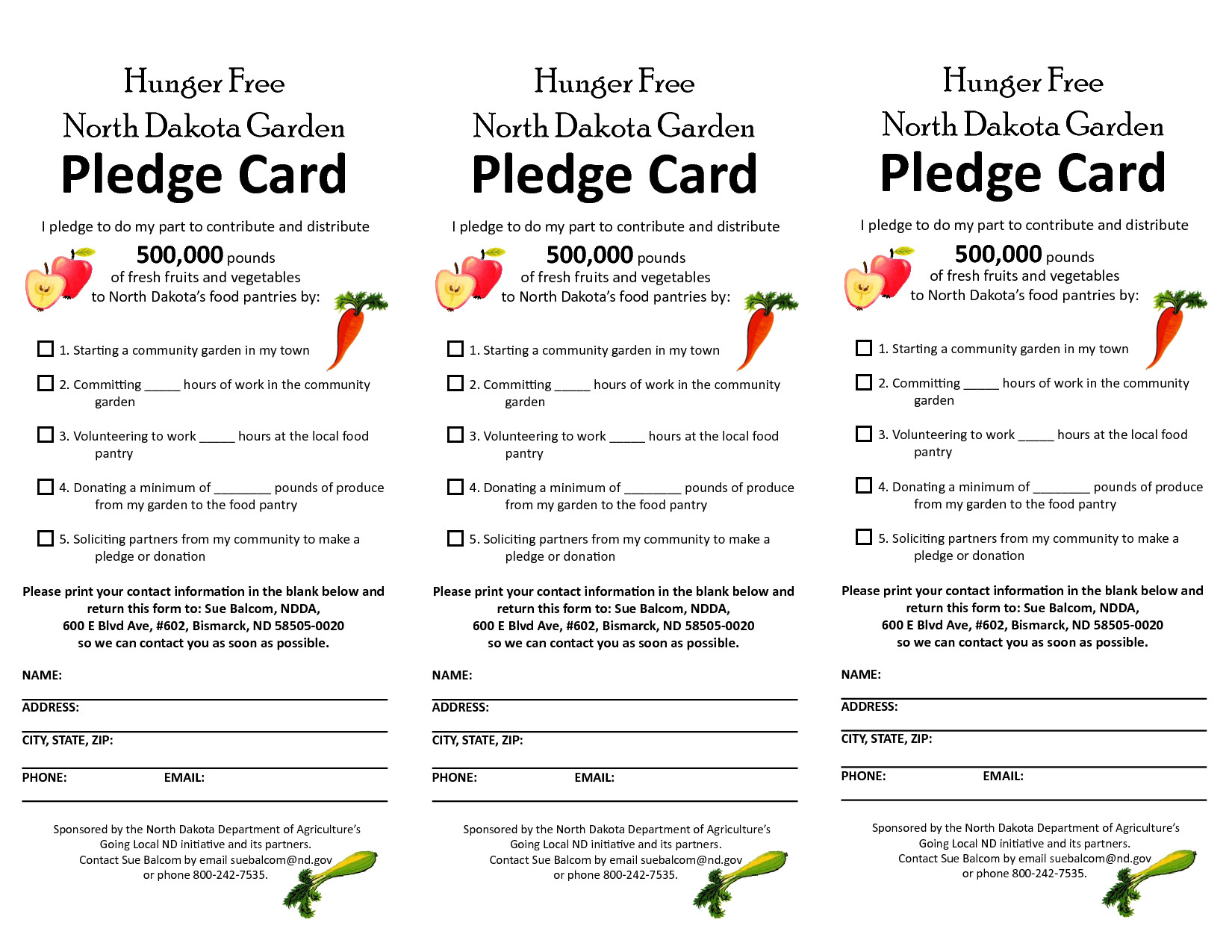 Donation Pledge Card Template Free Pledge Card Template