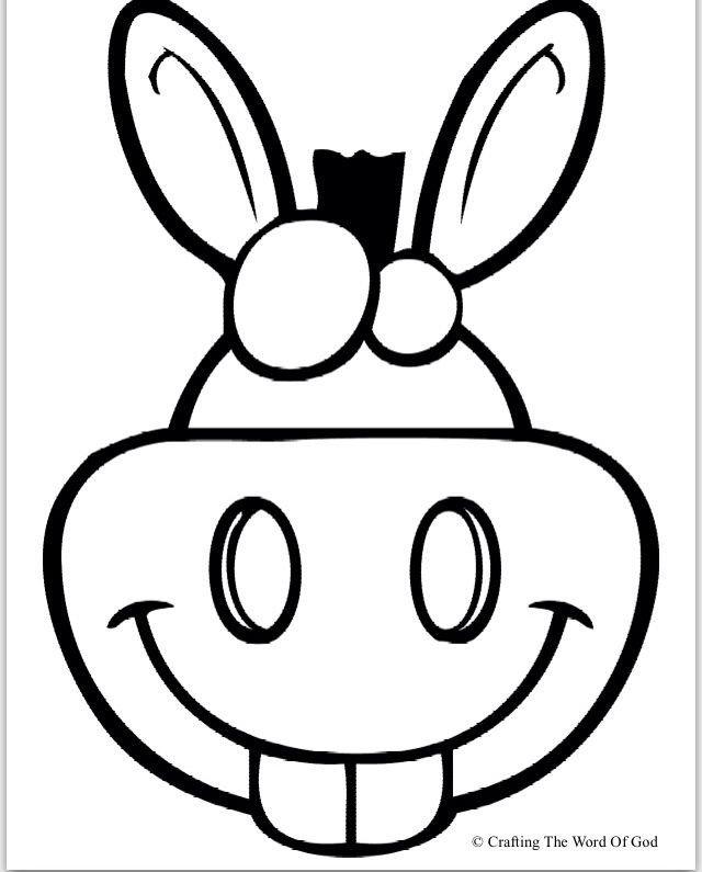Donkey Mask Template Donkey Puppet Puppets Pinterest