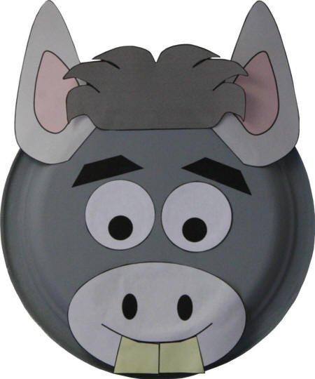 Donkey Mask Template Paper Plate Donkey Mask