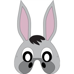 Donkey Mask Template Silhouette Design Store View Design Donkey Mask
