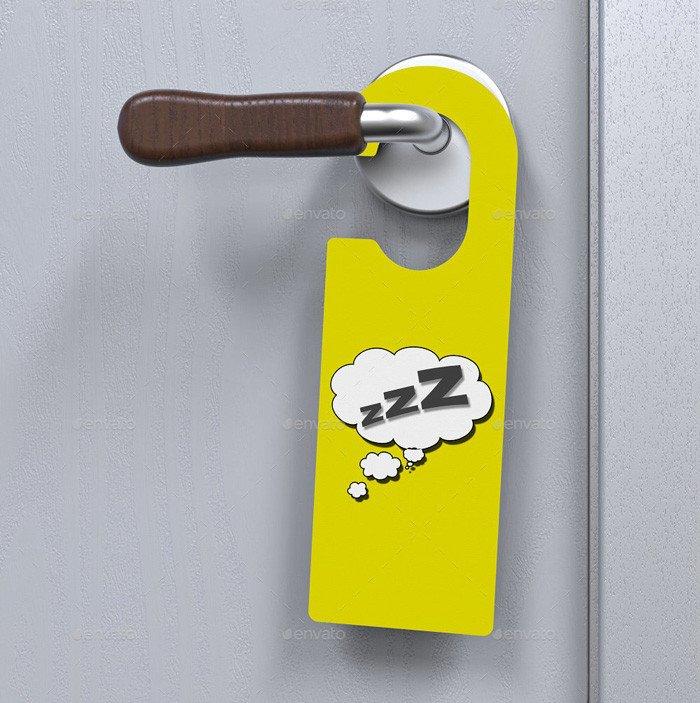 Door Hanger Template Psd 14 Free and Premium Door Hanger Mockup Templates Designyep