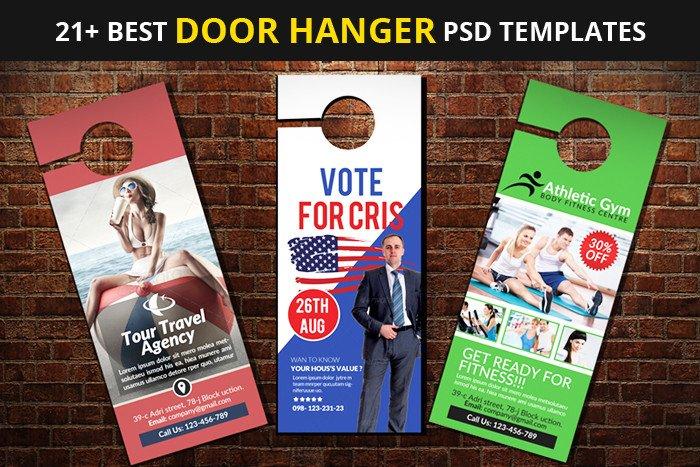 Door Hanger Template Psd 21 Best Door Hanger Psd Templates Designyep