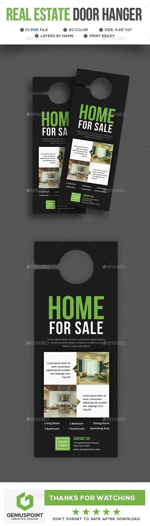Door Hanger Template Psd Best 25 Door Hanger Template Ideas On Pinterest