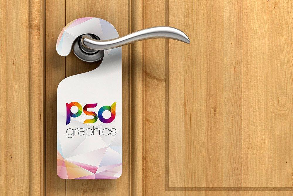 Door Hanger Template Psd Door Hanger Mockup Free Psd