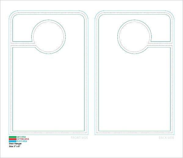 Door Hanger Template Psd Door Hangers by Hanger Designs Psd Free Design Template
