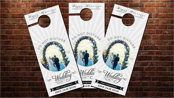 Door Hanger Template Psd Sample Wedding Door Hanger Template 8 Documents In Psd