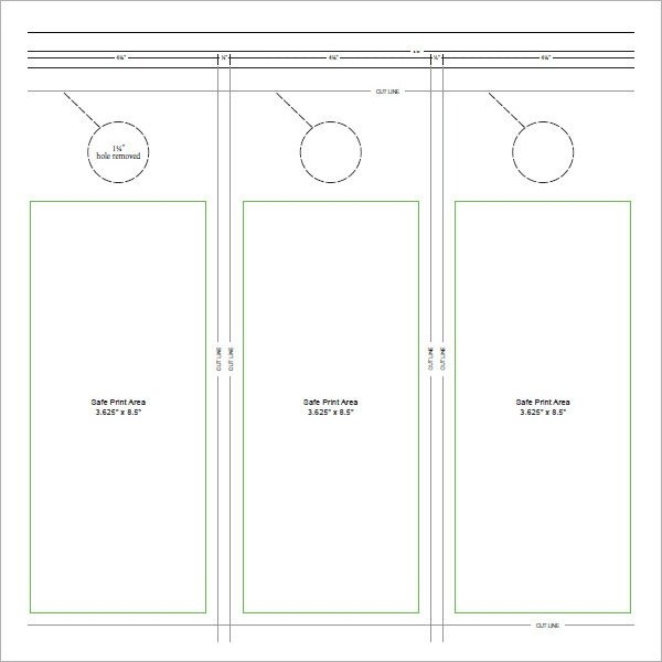 Door Hanger Template Word 15 Door Hangers Psd Vector Eps Pdf
