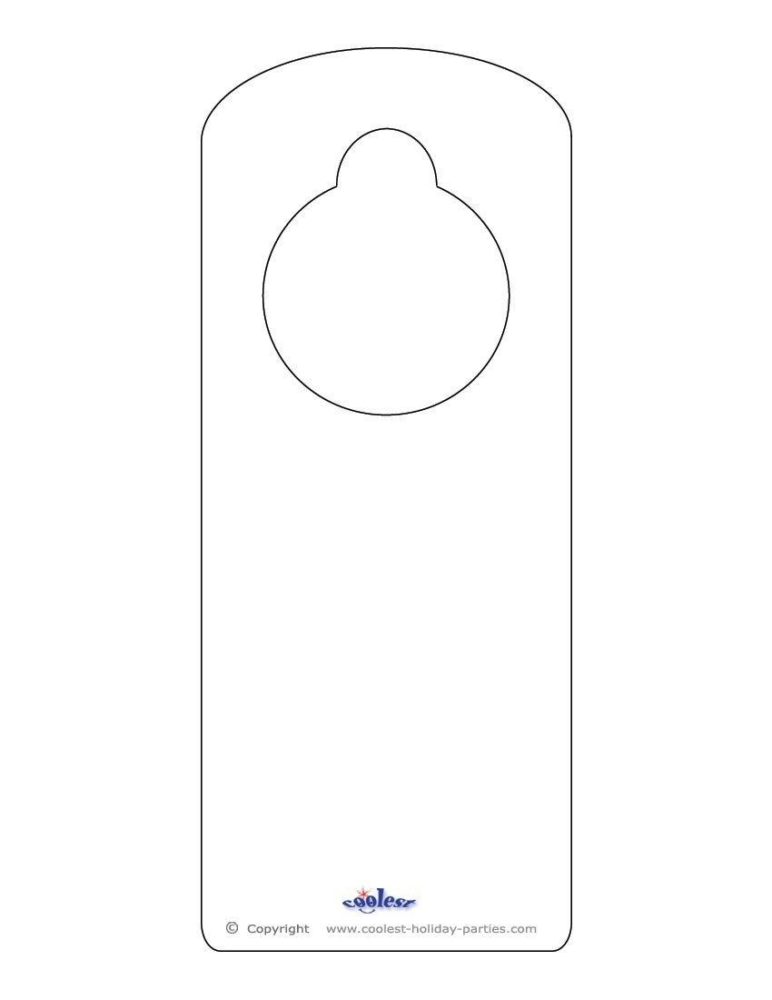 Door Hanger Template Word Blank Printable Doorknob Hanger Template