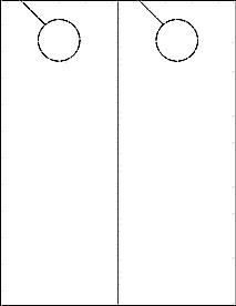 """Door Hanger Template Word Door Hanger Ol245 4 25"""" X 11"""" Blank Label Template"""