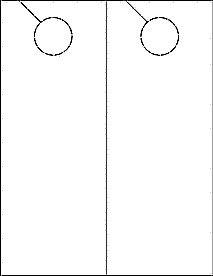 Door Hanger Template Word Printable Door Hangers