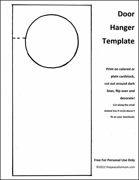 Door Hanger Templates for Word Door Hanger Template