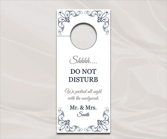 Door Hanger Templates for Word Sample Wedding Door Hanger Template 8 Documents In Psd