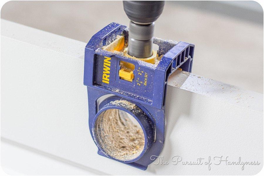 Door Knob Drill Template Door Knob Install In Slab Doors