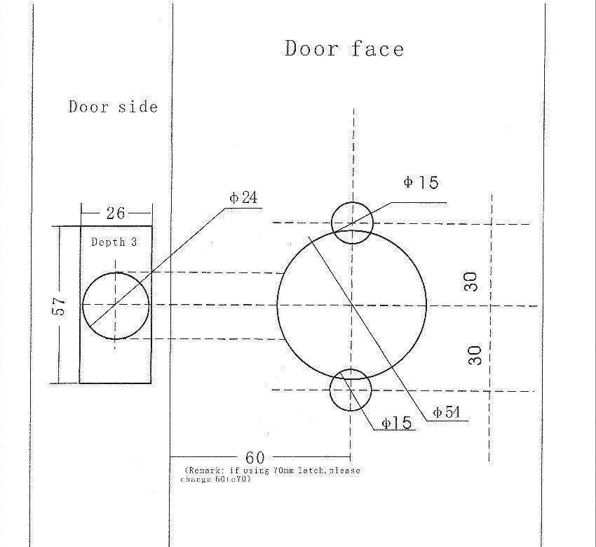 Door Knob Drill Template Door Knob Installation Template – Door Knobs