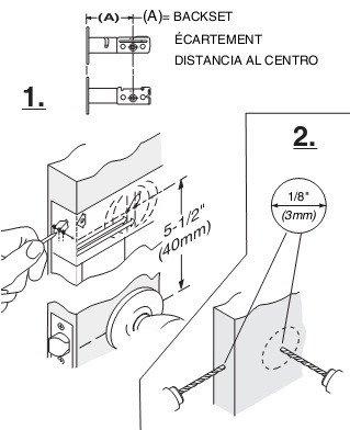 Door Knob Drill Template Drill Hole In Door