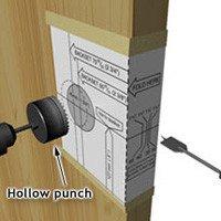 Door Knob Drill Template Install An Exterior Door Handle or Lockset 1