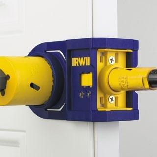 Door Knob Drill Template Metal & Wood Door Lock Installation Kits tools Irwin tools