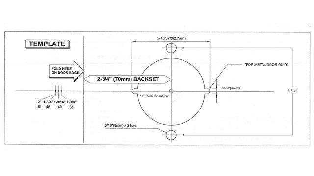Door Knob Drill Template Retrofiting Knob to Lever Locks Made Easy