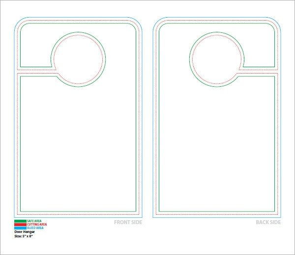 Door Knob Hanger Template 15 Door Hangers Psd Vector Eps Pdf