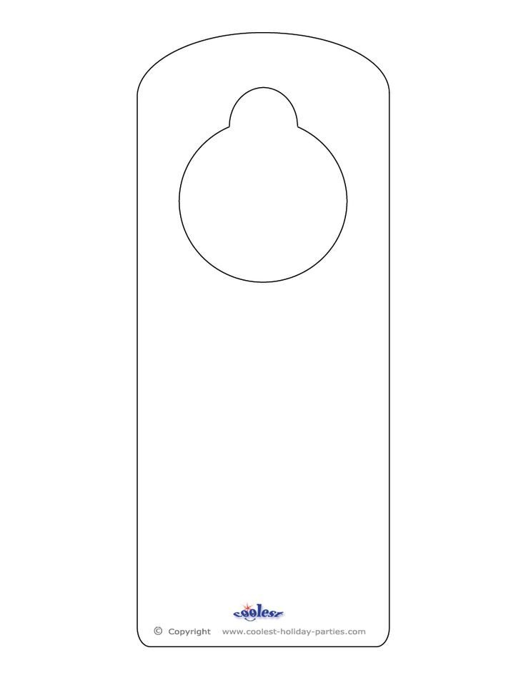 Door Knob Hanger Template 25 Best Ideas About Door Hanger Template On Pinterest