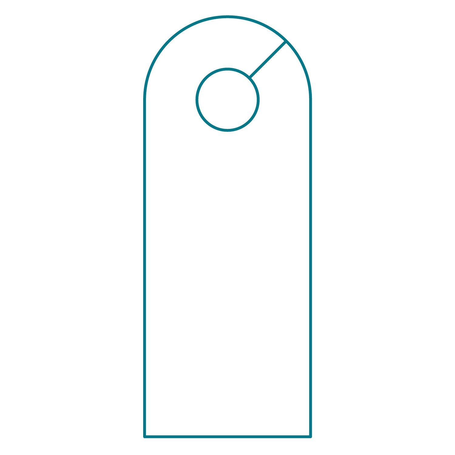 Door Knob Hanger Template Door Hanger Template
