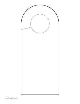 Door Knob Hanger Template Printable Rounded Doorhanger