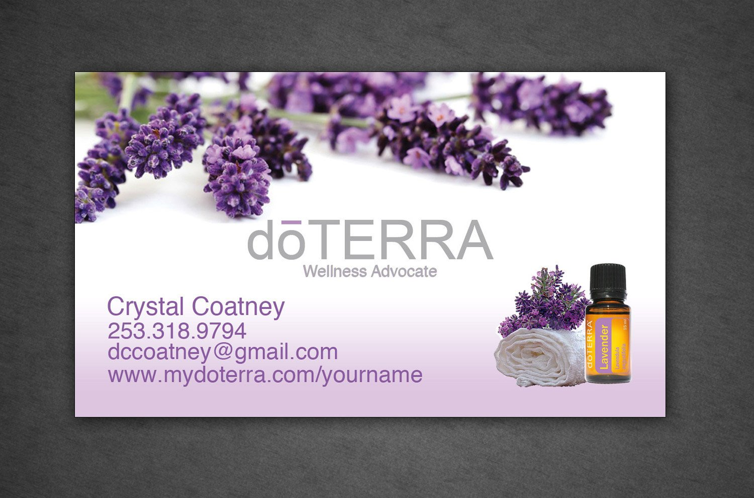 Doterra Business Card Template Doterra Business Card Full Color Professionally by