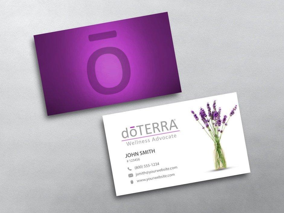 Doterra Business Card Template Doterra Business Cards