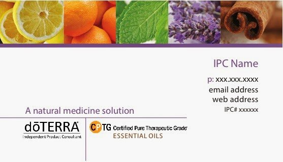 Doterra Business Card Template Doterra Ipc Business Cards