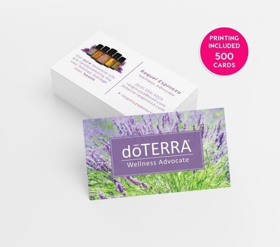 Doterra Business Card Template Doterra Lavender Business Card Design 500 Business Cards