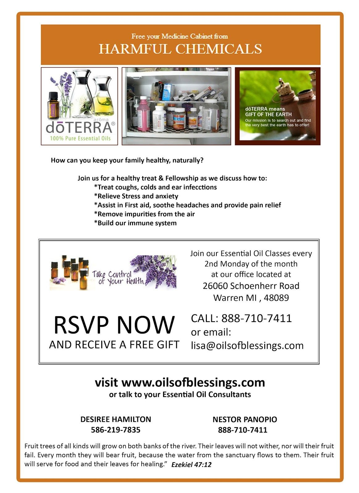 Doterra Class Flyer Template Doterra Invitation Template