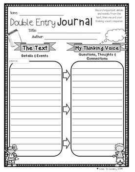Double Entry Journal Template Double Entry Journal Journals and Prehension On Pinterest