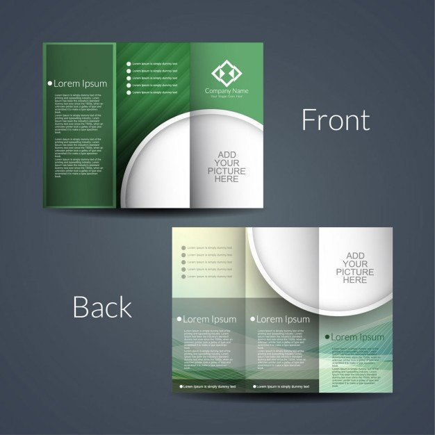Double Sided Brochure Template Double Sided Brochure Vector