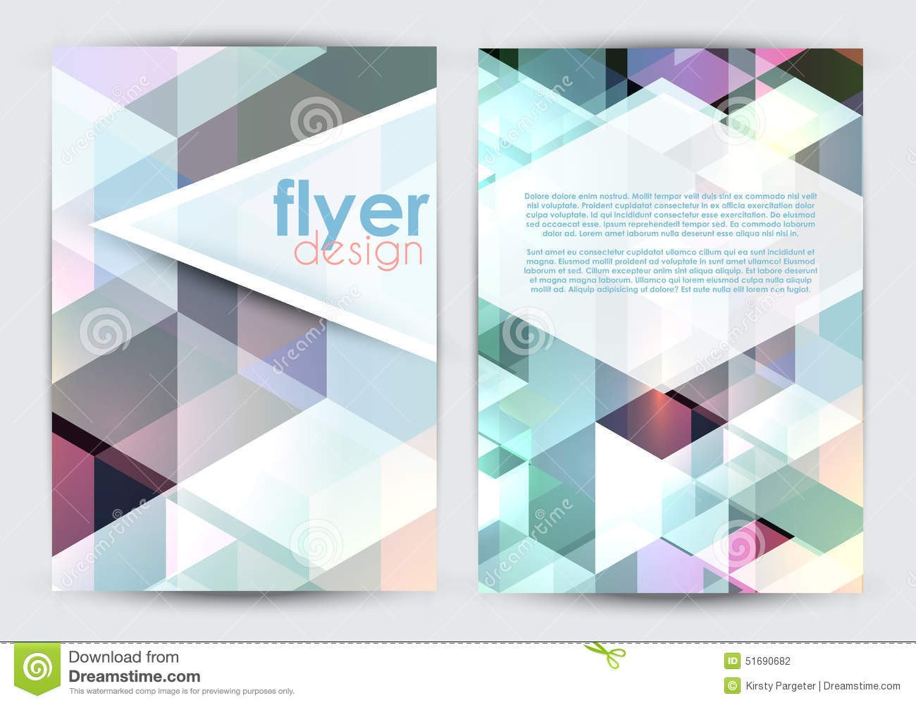 Double Sided Brochure Template Double Sided Flyer Design Stock Vector Image