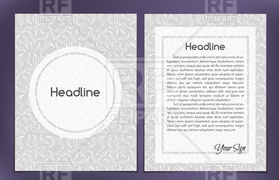 Double Sided Brochure Template E Column Double Sided Leaflet Brochure Cover Layout