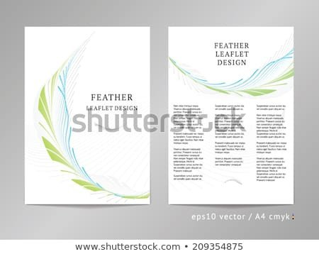 Double Sided Brochure Template Three Column Double Sided Vector Leaflet Brochure