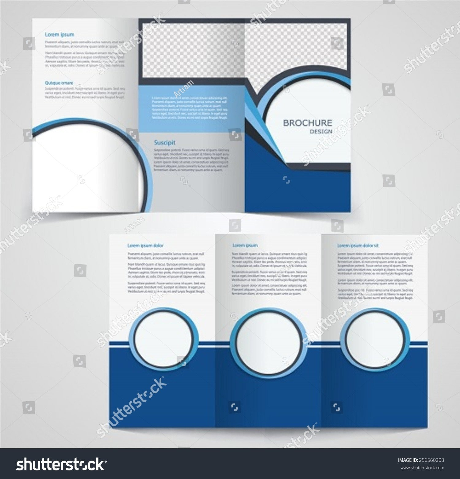 Double Sided Brochure Template Tri Fold Business Brochure Template Two Sided Template